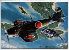 "CP Aviation - Chasseurs 2nde Guerre - Mitsubishi ""Zéro"" (Jap.) - F. Bergèse"