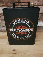 Vintage Petrol HARLEY DAVISDON Reproduction Decorative Jerry Can Brass Cap
