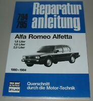 Reparaturanleitung Alfa Romeo Alfetta 1,6 / 1,8 / 2,0 Liter 1980 - 1984 Buch NEU