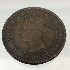 1871 Prince Edward Island Canada One 1 Cent Copper Penny PEI Coin Struck B583