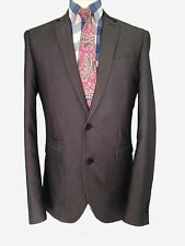 MEN'S BLAZER NEXT 40 LONG SLIM FIT GREY TONIC SINGLE BREASTED JACKET