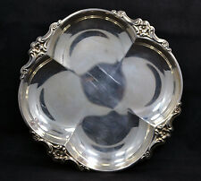 Small Rounded Square Silver Plate Silver-Plated Candy Dish Flowers Design (1991I