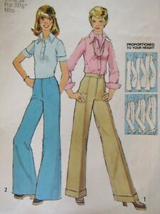 Lovely VTG 73 SIMPLICITY 6108 Misses Pants in 2 Looks PATTERN 8/24W