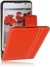 LG Optimus L4 2 /E440 Fliptype Premium PU Leder Tasche Vertikal Handy Case Rot-2