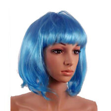 80's Neon Blue Bob Wig For Festivals, Hen Parties, Fancy Dress