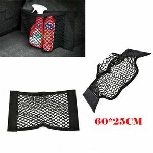 Car Back Rear Trunk Seat Elastic String Net Mesh Storage Bag Pocket Cage 60*25CM