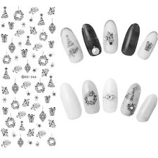 Christmas Nail Art Water Transfer Decals Snowflake Xmas Manicure Stickers Tips