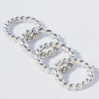 4 Stck. Ring 9mm SILBER 925 Binderinge f. Kette u. Armband silver ring 9mm Öse