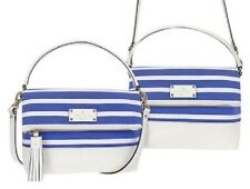 NEW! Kate Spade Mini Maria Southport Ave bag (934) Blue&White w/leather Wkru3075