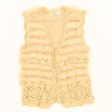L'affaire Anthropologie Peach Rabbit Fur Crocheted Vest BoHo Doilie Peasant M 10