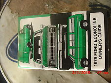1979 Ford Econoline New Glove Box Owner's Manual