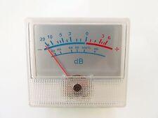 SILVER VU Meter per amplificatori, mixer, registratori, Ritaglio POSTERIORE MOUNT