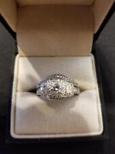 wedding set 14 k white gold wedding ring with band