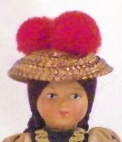Vintage German Germany Celluloid Doll Souvenir Folk Costume 6 inches