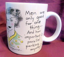 Hallmark MEN ARE GOOD FOR ONE THING..PARKING Cup MUG  Shoebox Greetings 1988
