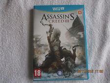 jeu wii u Assassin's creed III, Ubisoft, comme neuf, pegi 18