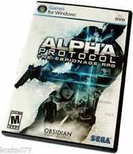 ALPHA PROTOCOL The Espionage RPG for PC New, Sealed, DVD, Windows