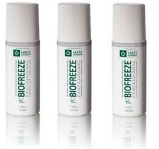 3 PK BioFreeze Professional Roll On 3 fl oz (Colorless) Exp.2019+-Depends On Us!