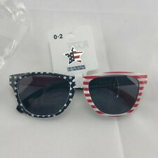 Patriotic Sunglasses Baby/Toddler Size red white blue flag UV protection NWT