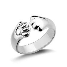 Mujer Anillos De Boda Gato Garra Anillo Abierto joyería Ring