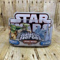 Star Wars Galactic Heroes Luke Skywalker Obi-Wan Kenobi 2007 DAMAGED BOX