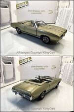 Danbury Mint 1968 PONTIAC GTO CONVERTIBLE LE! NMIB/PAPERS- VERY RARE APRIL GOLD!