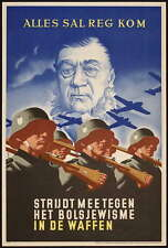 German WW2 Netherlands Waffen SS Officer Poster #1
