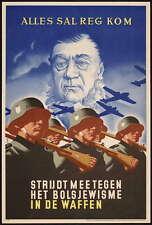 German WW2 Netherlands Waffen SS Officer Poster #1