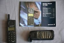 ERICSSON MOBILE PHONE GH 688 with MANUAL & case. Untested. GH688 VINTAGE BRICK