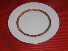 Porcelana Plato Retroneu Blanco y Oro 19.1cm Imperial Dorado