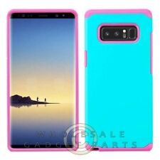 Samsung Note 8 Advanced Armor Case - Teal Green/Hot Pink Case Cover Shell