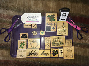 Stampin' Up Stamp Affair PSX STAMPENDOUS Wood Mounted Stamps Rubber Stamp LOT