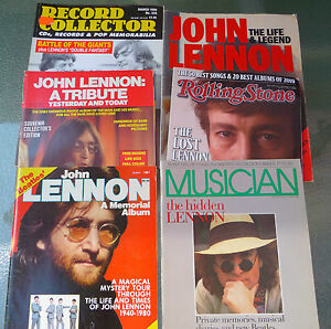 John Lennon Magazine Lot of 6 (Rolling Stone, Record Collector, Musician, ...)