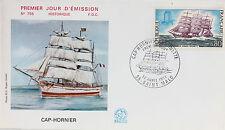 ENVELOPPE PREMIER JOUR - 9 x 16,5 cm - ANNEE 1971 - CAP-HORNIER ANTOINETTE