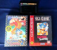 Vintage Sega Genesis Game Lot. Sonic & Knuckles, Sonic The Hedgehog, Sonic 2