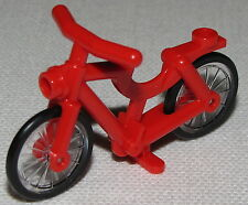 LEGO NEW RED BICYCLE MINIFIGURE BIKE TOWN CITY PIECE
