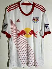 Adidas Authentic MLS Jersey New York Red Bulls Team White sz L