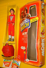 "1979 Mattel Robin Williams Mork & Mindy 9"" Doll C-2 Caja w/ Hablando backPack"