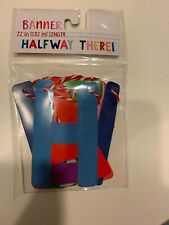 Party Banner says: HALFWAY THERE -- Baby or Bridal Shower Party Decoration