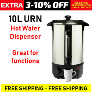 10L Electric Hot Water Urn Dispenser Tap Pot Party Stainless Steel Coffee Heater
