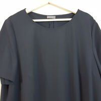 [ SAMOON ] Womens S/S Navy Tunic Top | Size AU 20 or UK 22 / US 18