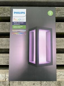 Philips Hue Impress White And Colour Ambiance Led Smart Garden Wall Light - Slim