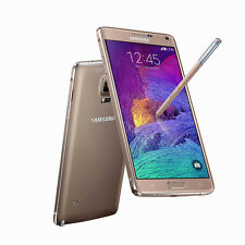 "Libre TELEFONO MOVIL 5.7"" Samsung Galaxy Note 4 N910F 32GB 4G LTE 16MP GPS - Oro"