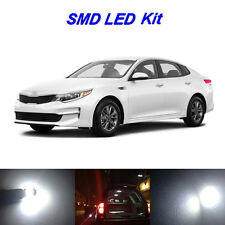 9 x White LED Bulbs for 2011-2017  KIA Optima License Plate + Interior Light