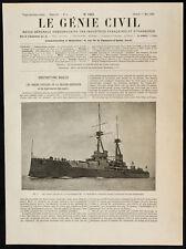 "1909, Le ""Bellerophon"", cuirassé britannique. Grande Bretagne, Marine, Militaria"