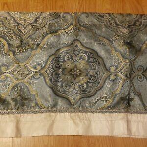 """Valance mandala  80"""" W x 18"""" L light green embroidered PRETTY."""