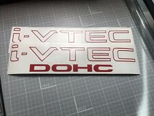 "i-VTEC DOHC (2 PACK) 9"" RED Sticker Honda Civic Decal Accord JDM I VTEC S2000"
