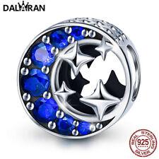 DALARAN 925 Sterling Silber Auserlesen Blau CZ European Perlen Moon Star Charme