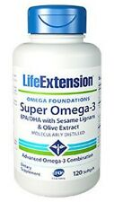 Super Omega-3 EPA/DHA with Sesame Lignans Olive Extract Life Extension 120s Buy