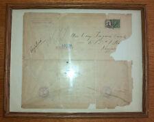 September 3, 1924 USPS Registered Mail Stamped Envelope Framed w/ Postage Stamp